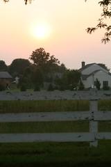 The sun setting on Intercourse (azz) Tags: sunset honeymoon intercourse