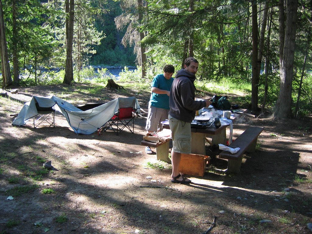 Meadow Ck  camp on Moyie River . 7-1-07