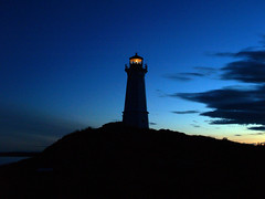 Lighthouse Point (Amy Eileen) Tags: ocean lighthouse water novascotia harbour shoreline olympus evolt e500 louisburg mywinners colorphotoaward impressedbeauty