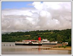Maid of the Loch (edowds) Tags: trees sky clouds scotland boat dumbarton balloch lochlomond paddlesteamer maidoftheloch