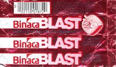 Cinnamon Binaca Blast gum wrapper