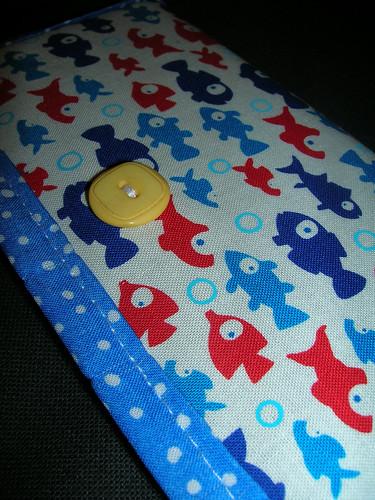 Fishy Checkbook Cover