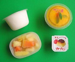 Frozen fruit and jellies for packed lunches