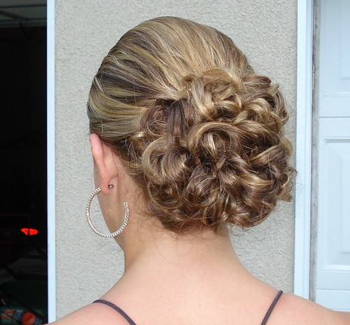 homecoming hairstyle, formal dance hairstyle, semi-formal dance hair