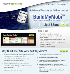 Network Solutions Mobile Website Builder
