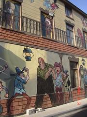 pictural comics on the street- rue de la grotte  , Brussels (toulouzdatbllues77) Tags: street brussels comics belgium colorfull drawn rue ornement laeken pictural