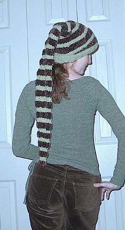 Knitting Pattern Long Hat : Ravelry: Stocking Cap With Long Tail pattern by Nathalie ...