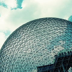 atmosphere (uwajedi) Tags: canada architecture quebec montreal biosphere buckminsterfuller worldsfair expo67