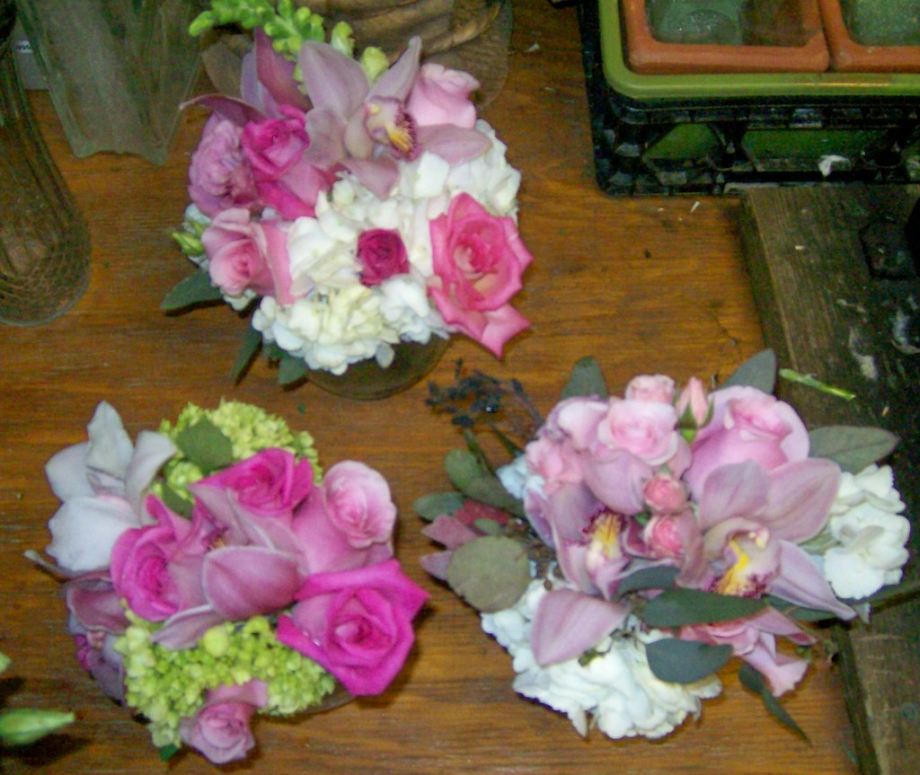 Pretty Pink Nosegay Bouquets