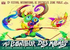 Affiche Festival Au Bonheur des Momes-2004