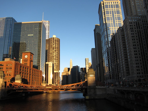Chicago River From Wells