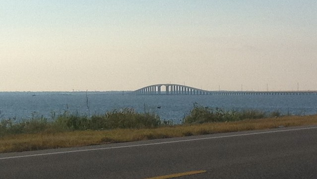 The bridge to Dauphin Island