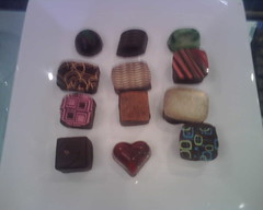 Chocolates from @Arayachocolate with @GrouponHouston. Four I tried so far were delicious!