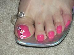 nails 4-7-10 077 (kellt2010) Tags: pink flowers art long with nail toenails