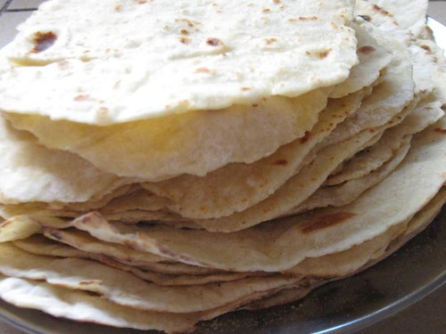Finished tortillas