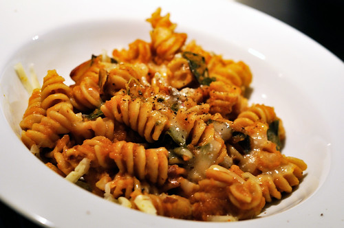 Baked Pumpkin Pasta with Chard