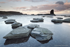 Black Nab (Azzmataz) Tags: sun black sunrise bay whitby nab shale saltwick anthonyhallphotography