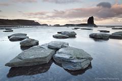 Black Nab (Azzmataz) Tags: sun black sunrise bay whitby nab shale saltwick anthonyhallphotography