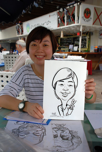 Caricature live sketching for VISA Beach Party 2010 -1