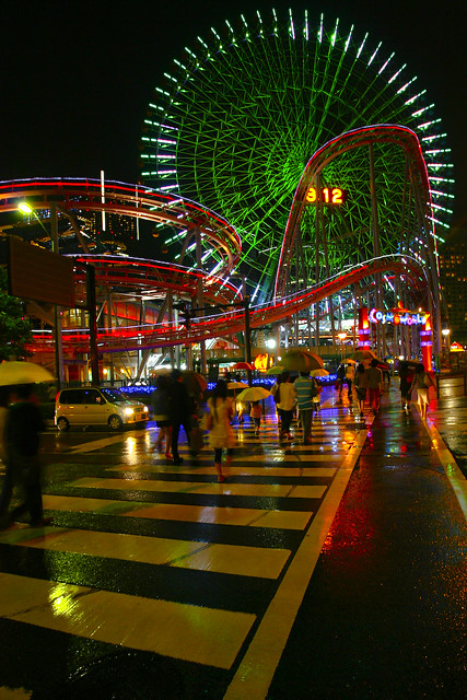 Cosmoworld, Yokohama at Night