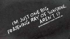 I'm just one big fucking ray of sunshine... (Tom Coates) Tags: tshirt christianheilmann hackdaylondon upcoming:event=173371