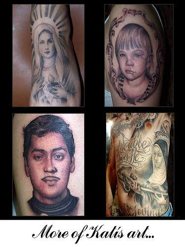 Kat's Art. I absolutely love the Mother Mary tattoos…..*totally gobsmacked*