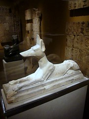 Recumbent Jackal God Anubis (ggnyc) Tags: nyc newyorkcity stone egypt carving limestone met saqqara metropolitanmuseumofart anubis ancientegypt egyptology egyptianart egyptianwing dynasty26 jackalgod