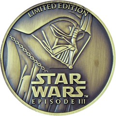 Star Wars episode 3 coin