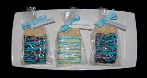 blue rice krispy treats