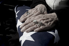 Widowed (blakelipthratt) Tags: old memorial flag patriotic funeral elderly widow soe supershot challengeyouwinner shieldofexcellence diamondclassphotographer