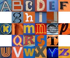 Blue and orange checkerboard