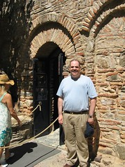 Greg at the Virgin Mary's house (Mike Fairbanks) Tags: turkey ancient ruins roman library romanempire ephesus celsus romanruins maryshouse meryemana libraryofcelsus