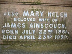 Mary Helen b. 22nd July 1861 – d.23rd April 1950