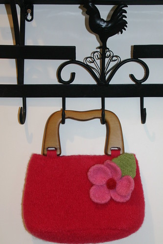Fleted Purse with Flower