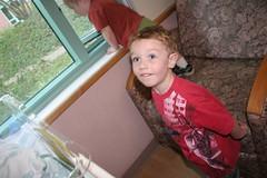 Lennox watching cartoons (dumpsterButt) Tags: birthday twins cuba cora