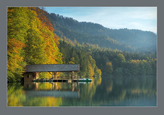 Alpsee Boathouse (Edd Noble) Tags: autumn lake alps germany nikon row rowing 1755mmf28g nikkor boathouse d2h alpsee 1755mm