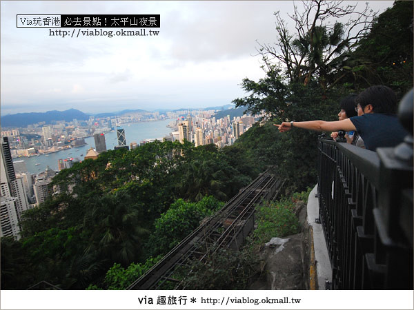 【香港自由行】必推!內有百萬夜景~香港太平山夜景23