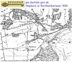 hepburn map northumberland 1856_durham