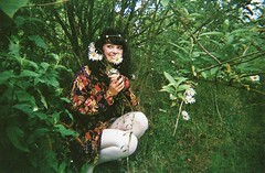 forest of giant daisies (Adele M. Reed) Tags: film girl daisies forest 35mm pretty kodak 200 daisy coventry loz daisychain whitetights concordeslimline