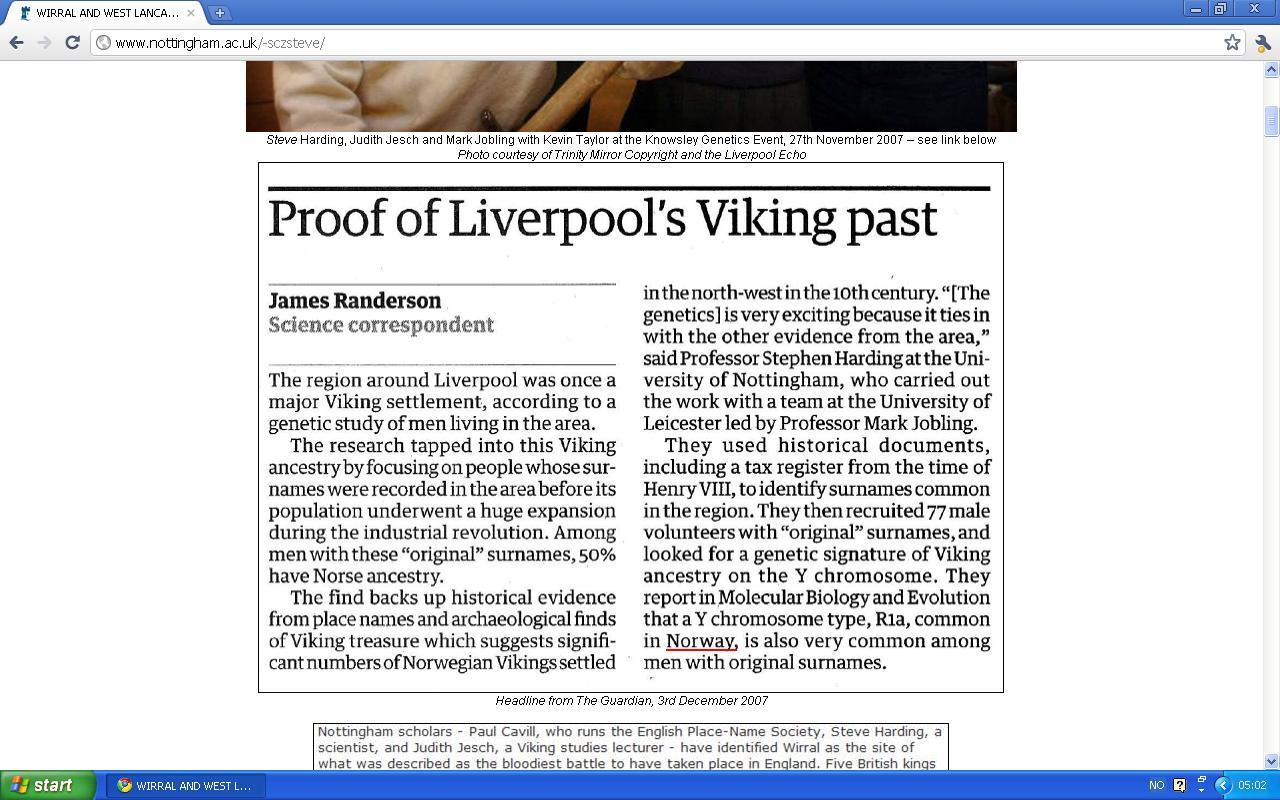 sted med mange norske vikinger