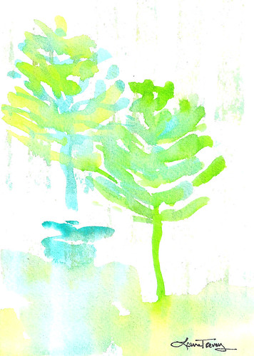 Abstract - Trees - Watercolor Painting