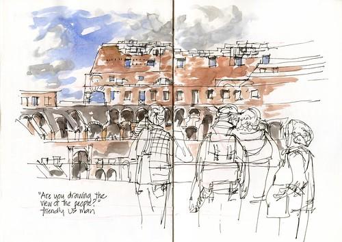 0927MO_02 Colesseum Tourists