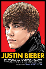 Justin Bieber San Diego Sports Arena Limited Edition Poster Art (Mel Marcelo) Tags: portrait face fashion hair vectorart vector sandiegosportsarena spotcolors melito seankingston melmarcelo justinbieber justinbieberposterart justinbieberart adobeillsrator valleyviewcasinocenter