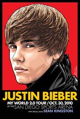 Justin Bieber San Diego Sports Arena Limited Edition Poster Art (Mel Marcelo) Tags: portrait face fashion hair vectorart vector sandiegosportsarena spotcolors melito seankingston melmarcelo justinbieber justinbieberposterart justinbieberart adobeillsrator valleyviewcasinocenter