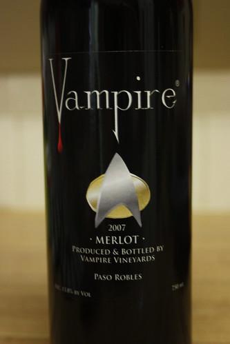 Vampire star trek merlot