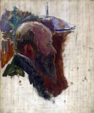 Bonnard, Pierre (1867-1947) - 1910c. Study for a Portrait of the Artist Edouard Vuillard (National Gallery of Art, Washington, DC)