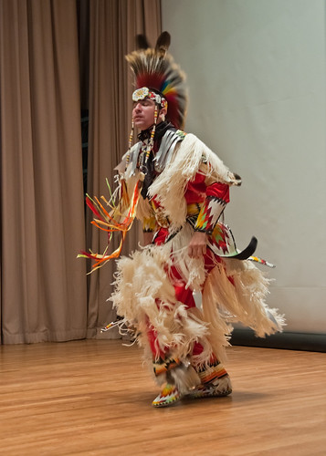 "Rusty Gillette, Arikara/Hidatsa, a world class Grass Dancer from the Fort Berthold Reservation in White Shield, North Dakota was the cultural entertainment for the United States Department of Agriculture, National American Indian and Alaska Native Heritage Month ceremony, ""From the Roots of Our Past Grow the Promises of Tomorrow,"" held in Washington, DC, Tuesday, November 9, 2010. Gillette whose Indian name is ""Hooves"" is a member of the Dead Grass Society."