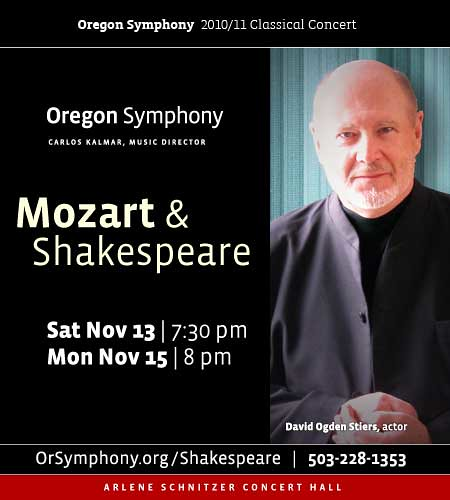 Oregon Symphony presents An Evening Of Classical Music And Classic Theatre With Their Concert Mozart & Shakespeare