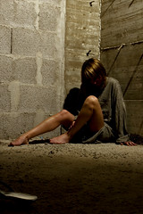 There is no other day (Pensiero) Tags: woman girl emily sitting legs stones bricks dungeon tunic sydbarrett httpwwwstefanocorsocom