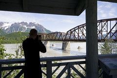 Snapping the Bridge (EDubya) Tags: alaska cordova copperriver milliondollarbridge